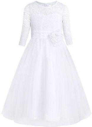 Amazon Yizyif Dziewcząt Sukienki Księżniczka Kostium Kwiaty Koronka