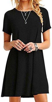 2dc7528101 Amazon yming bluzka damska torebka casual Keid bezprzewodowe sukienka  tunika sukienka Casual T-Shirt z