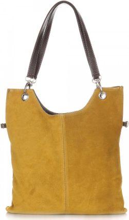 1bfc6ebd218fe Uniwersalne Torebki Skórzane z Zamszu firmy Genuine Leather Musztardowe  (kolory) ...