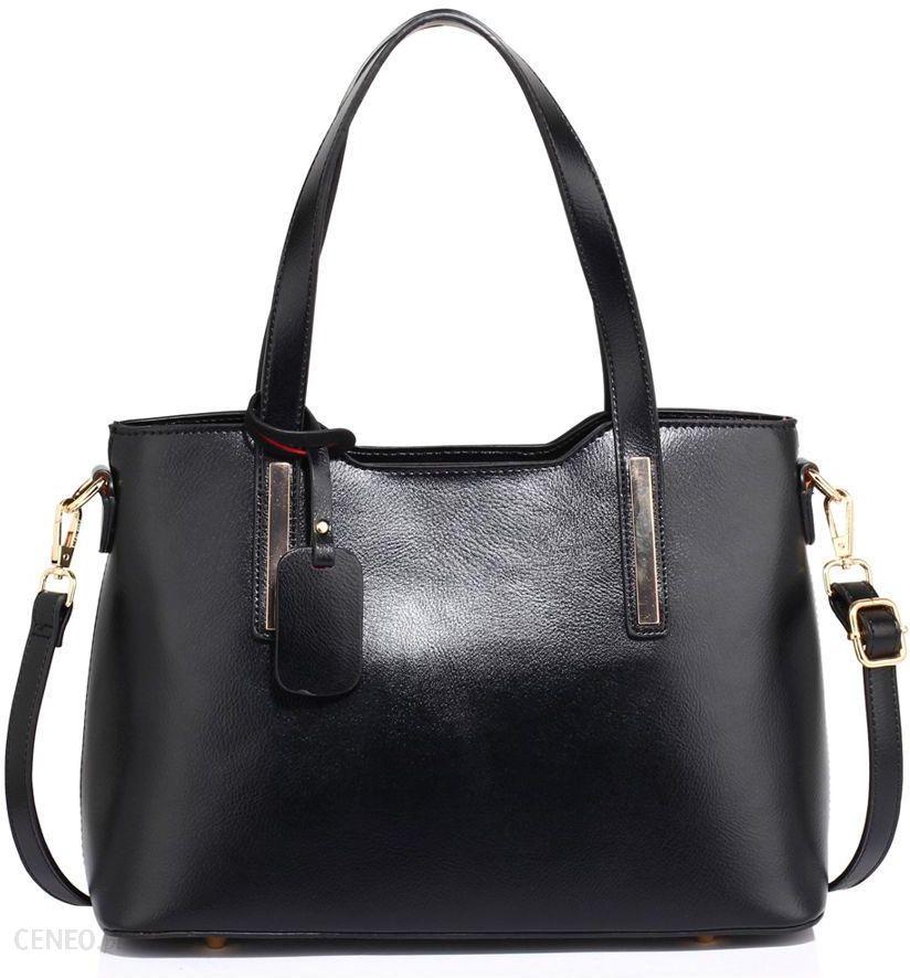 2778c2f2cb2e3 Klasyczna torebka damska na ramię czarna - czarny - Ceny i opinie ...