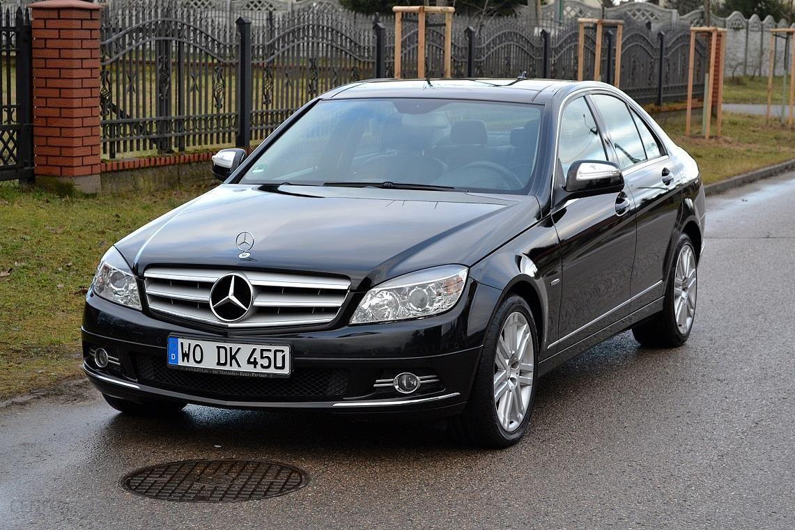 Mercedes-Benz Klasa C W204 2008 benzyna 204KM sedan czarny ...