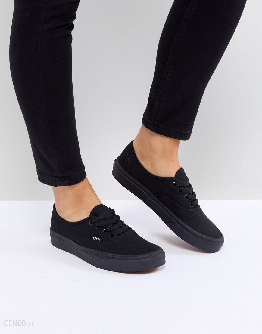 Vans Authentic Trainers In All Black Black