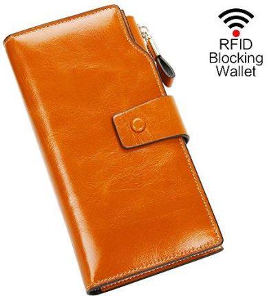 7c11cc1649c79 Amazon Portfel damski portfel z prawdziwej skóry portmonetka portfel damski  portfel luksusowy z 21 przegródek na