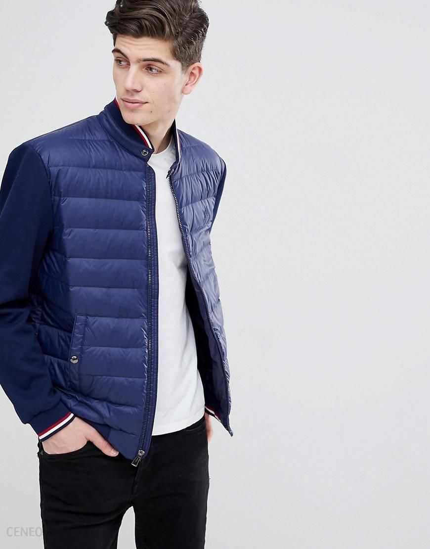 3088e23feb9 Polo Ralph Lauren Hybrid Down Bomber Jacket With Stripe Tipping in Navy -  Navy - zdjęcie