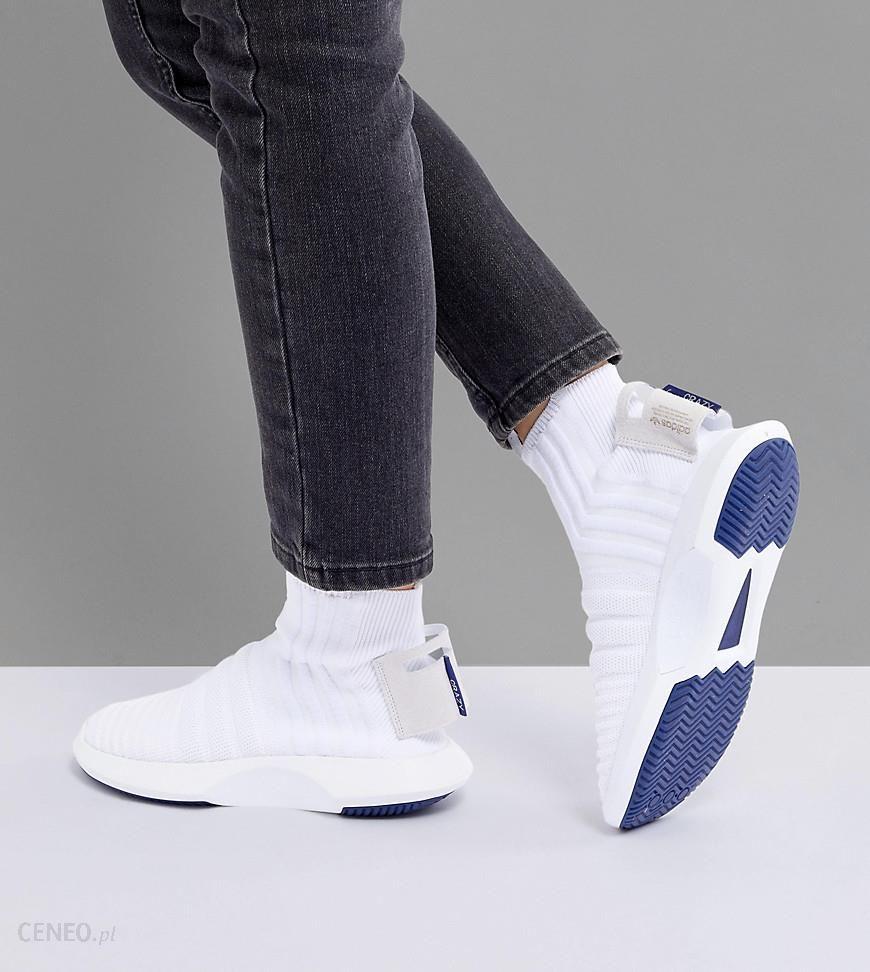 best service 5e572 df84c adidas Originals Crazy 1 Adv Sock Primeknit Trainers In White - White -  zdjęcie 1