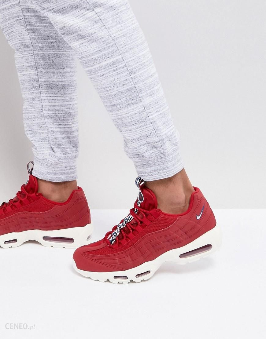 newest 53a10 bced3 Nike Air Max 95 TT Trainers In Red AJ1844-600 - Red - Ceneo.pl