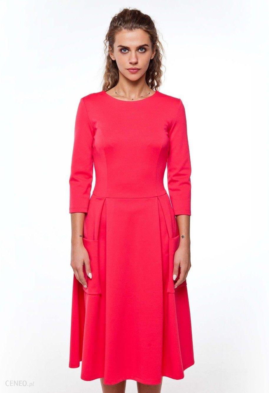 3c9f5ae4e4 GrandUA Elegancka piękna sukienka z dzianiny GR1910 Coral - Ceny i ...