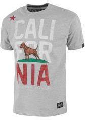 Koszulka Pit Bull Cal Flag - Szara (218033.1500) - Ceny i opinie T-shirty i koszulki męskie BCRV