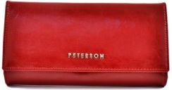 b03da5c42d46a Peterson - Portfel damski Pl 490 Red - Ceny i opinie - Ceneo.pl