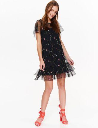d3ec5b9a PtakModa - Sukienka z cekinową aplikacją na boku CARAMELLA - Ceny i ...