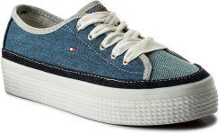 ff7c3747c5424 Tenisówki TOMMY HILFIGER - DENIM Star Flatform Sneaker FW0FW02770 Denim 404