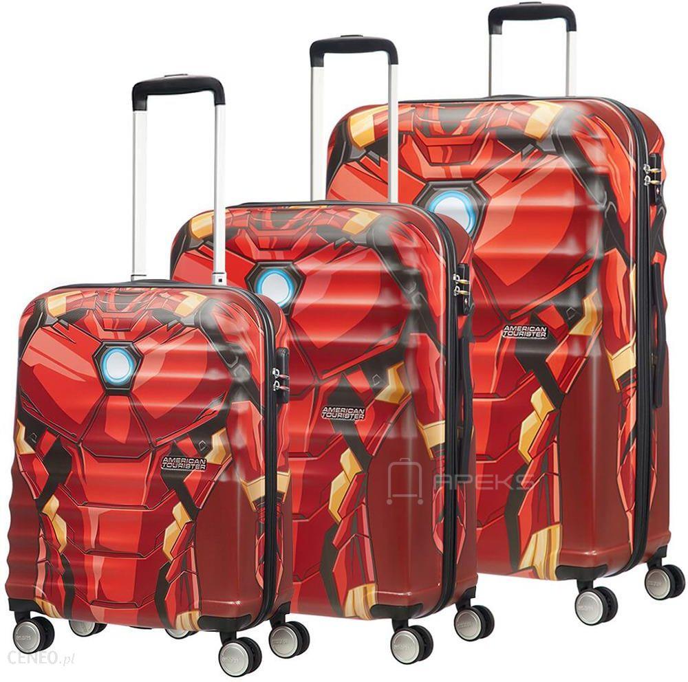 9b562e81457685 American Tourister Wavebreaker Disney Marvel Iron Man Close-Up zestaw  walizek / komplet - Iron