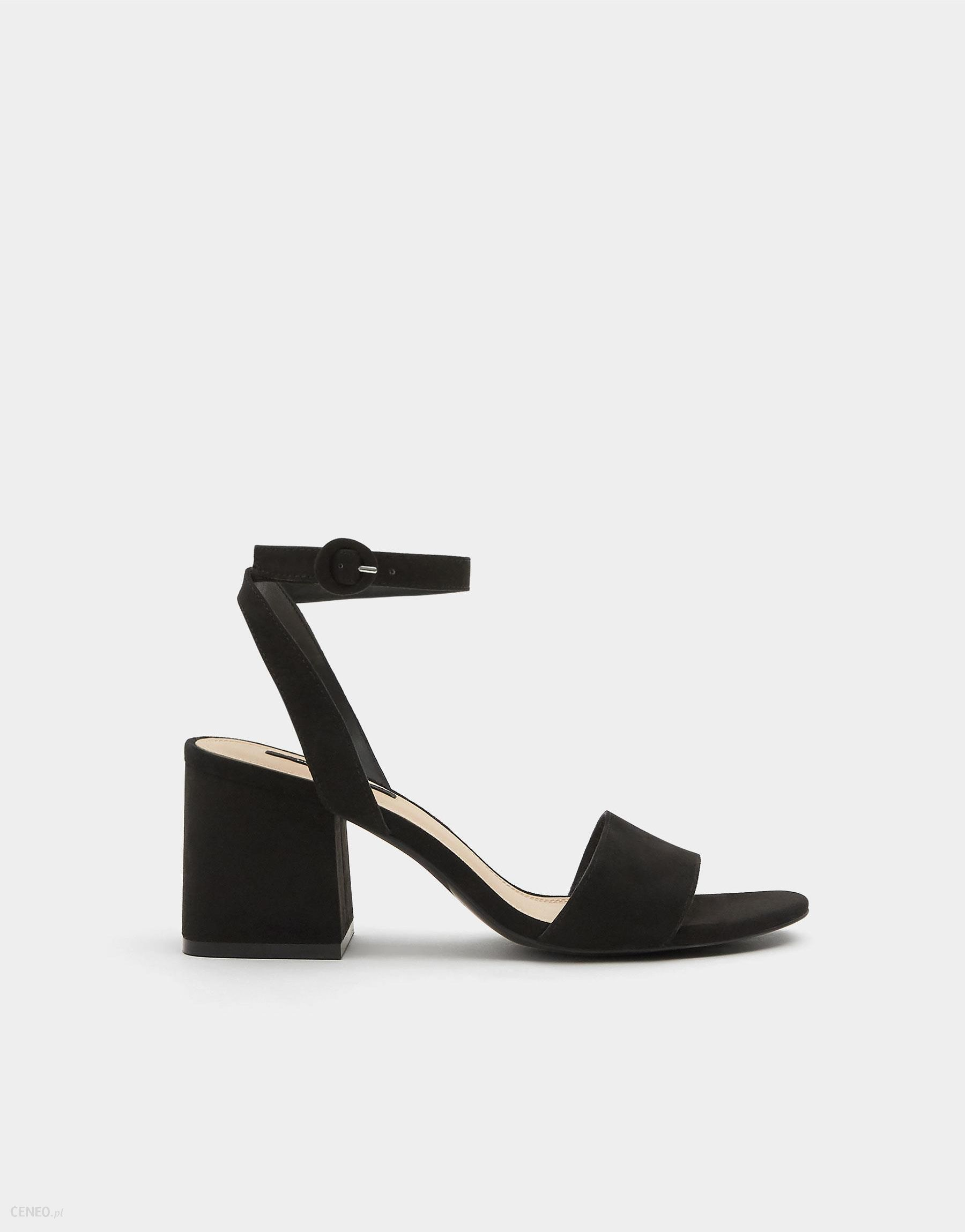 Czarne sandały zapinane wokół kostki Lampert 539 | Modema.pl