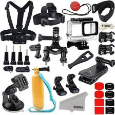 Amazon kupton akcesoria do GoPro Hero 6/5 Action Camcorder akcesoria do aparatu Kit uchwyt do wodoszczelna obudowa Head Strap Bike Car plecak Clip Mou
