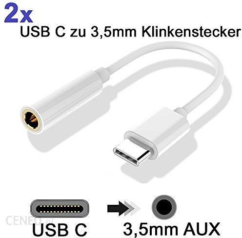 Amazon 2 X USB C na gniazdo 3,5 MM wtyczka mini jack audio adapter sieciowy do słuchania muzyki stereo słuchawki i do Motorola Moto z, leeco LE MAX 2