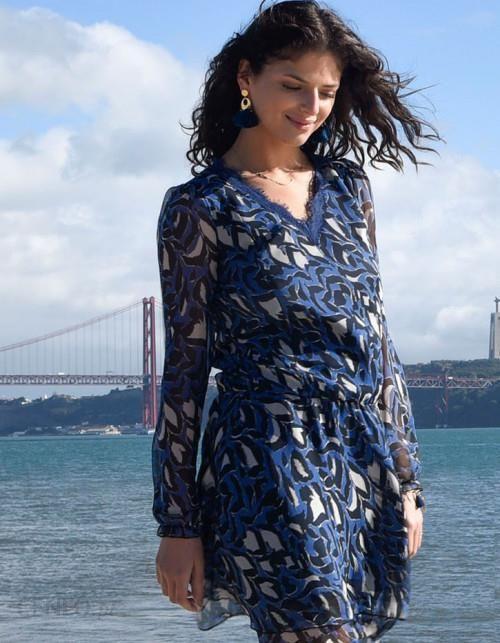 7ba572b085 Ju Lovi Sukienka jedwabna Monaco blue - Ceny i opinie - Ceneo.pl