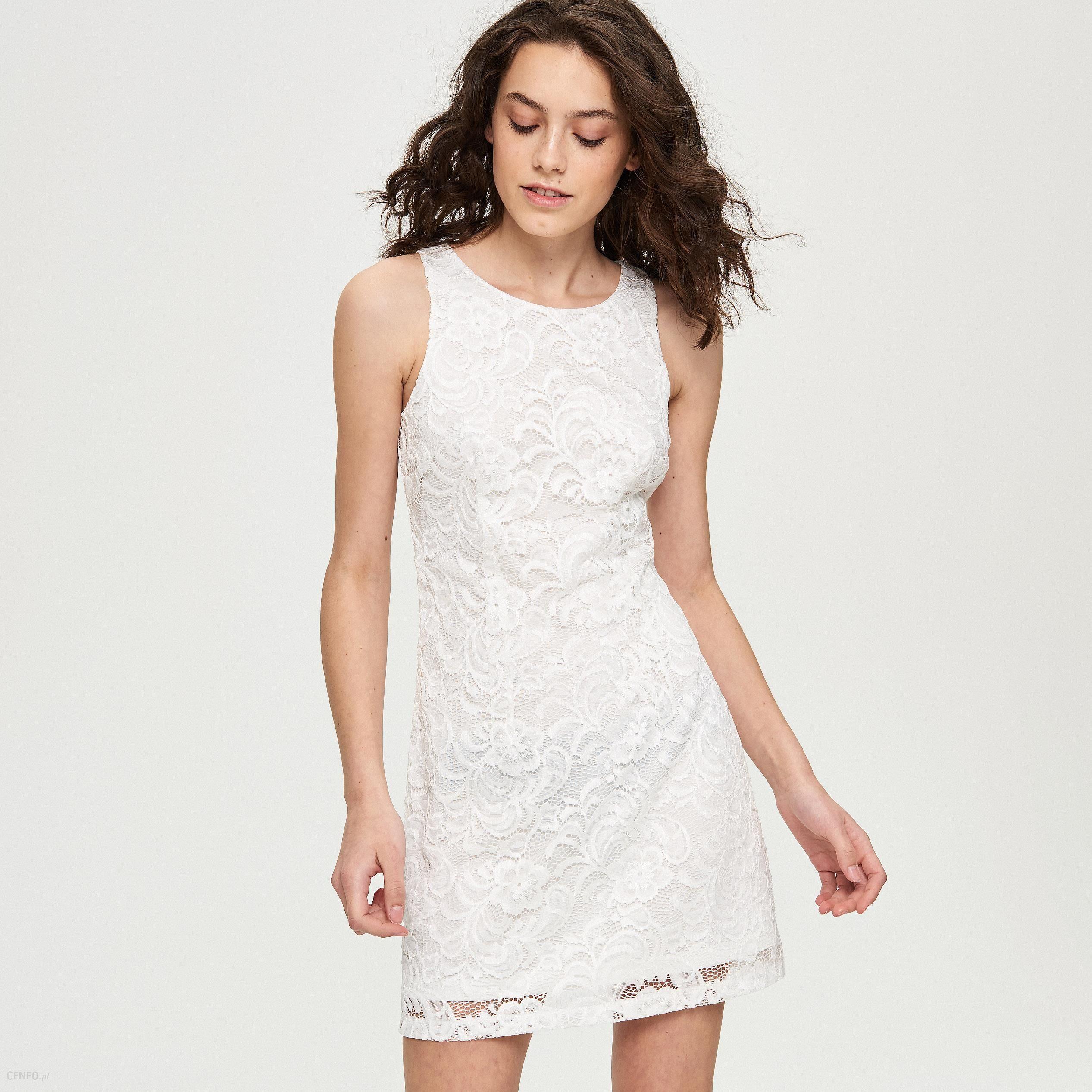 28870806d3 Sinsay - Koronkowa sukienka - Kremowy - Ceny i opinie - Ceneo.pl