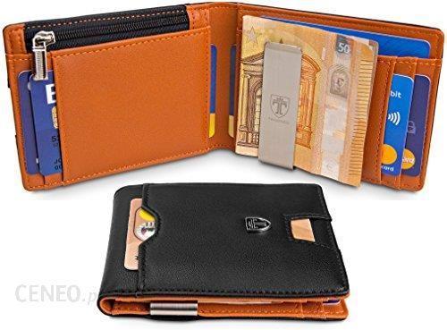 e5317a2101d15 Amazon travando® portfel z zabezpieczeniem klamra do pieniędzy