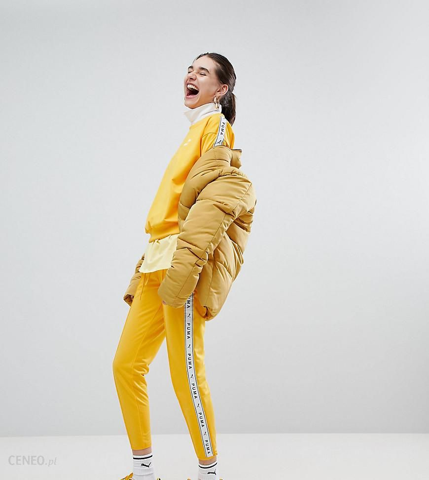 0154d88258 Puma Exclusive To ASOS Taped Side Stripe Track Pants In Yellow - Yellow -  zdjęcie 1