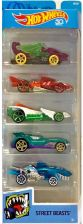 Hot Wheels Autko 5-PAK Street Beasts FKT51