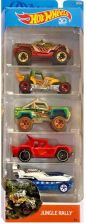 Hot Wheels Autko 5-PAK Jungle Rally FKT54