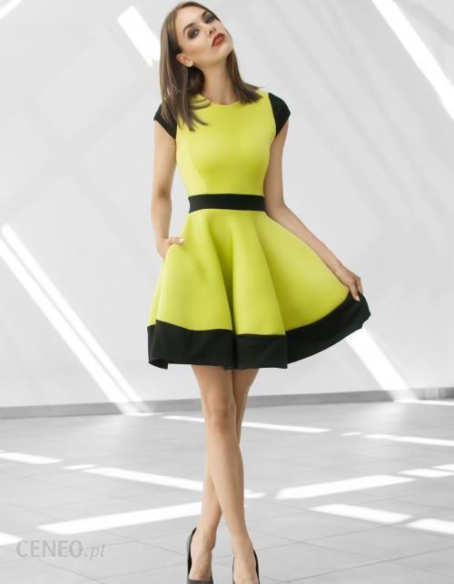 e25135fb4c Monnom boutique Sukienka rozkloszowana z pianki - Ceny i opinie ...