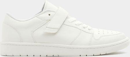 Pull & Bear Białe buty sportowe w stylu retro
