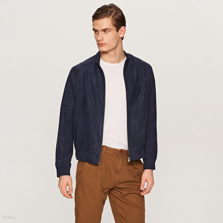 pikowana kurtka ze sztucznego zamszu