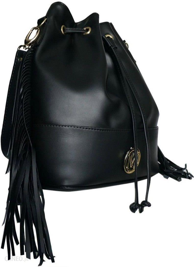 a4364e798a66 Manzana Oryginalna torebka WOREK BOHO wygodny styl czarna frędzle2 0301-E  Black - zdjęcie 1