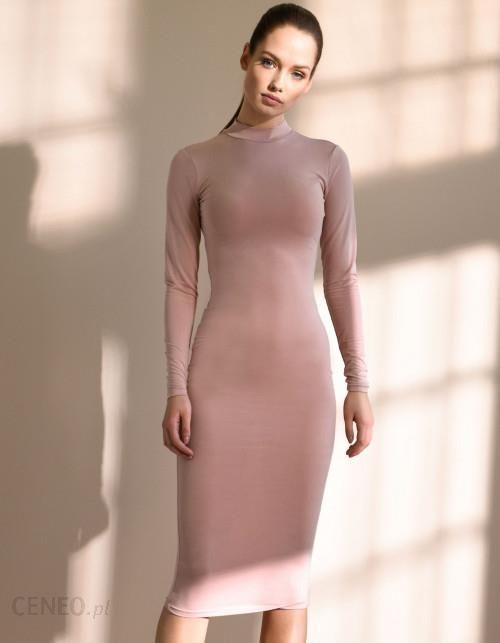 26d83d49bb NUDYESS Sukienka z półgolfem midi - Ceny i opinie - Ceneo.pl