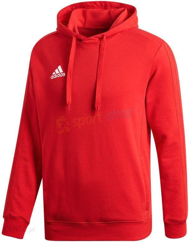 czerwona bluza adidas z kapturem meska