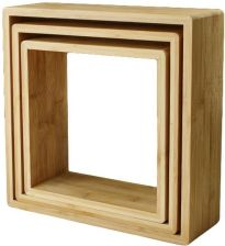 Zestaw Półek Form Cubic Bambus 3 Szt Opinie I Atrakcyjne Ceny Na Ceneopl