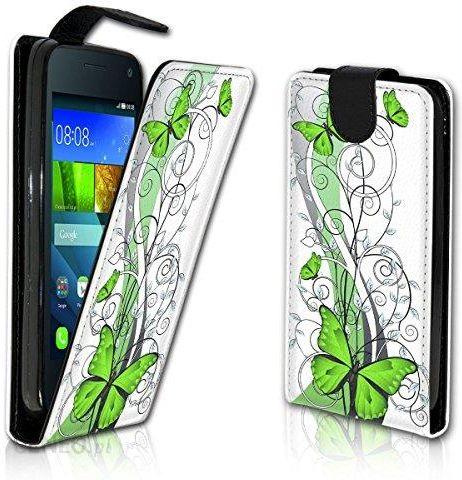 Amazon Pionowy pokrowiec na telefon komórkowy Flip Style Case pokrowiec  ochronny etui z motywem miska posiadacz karty do Huawei Ascend Y330 –