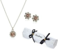 Johnny Loves Rosie Jewellery Flower Christmas Cracker Earring & Necklace Gift Set Jlrcracker4