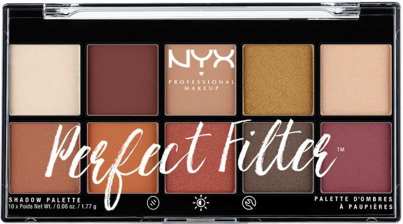 NYX Professional Makeup Perfect Filter Eye Shadow Palette Rustic Antique Paleta 10 cieni do powiek