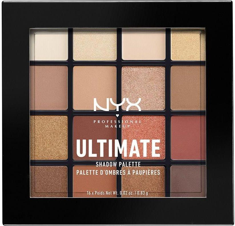 NYX Professional Makeup ULTIMATE SHADOW PALETTE WARM NEUTRALS Paleta 16 cieni do powiek