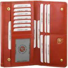 b4fea5e2345fc Amazon Damski portfel z prawdziwej skóry z dodatkowymi przegródkami ...