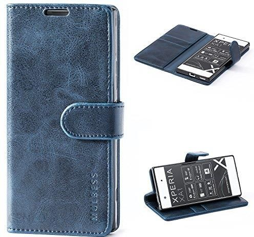 buy popular 6824c d47cc Amazon Sony Xperia XA1 Case, mulbess Leather Case, Flip Book Folio Case,  Money Pouch Wallet Cover with Kick Stand for Sony Xperia XA1, Black,  granatow