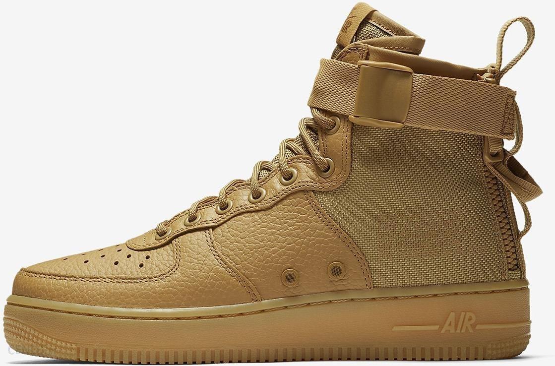 Buty damskie Nike SF Air Force 1 Mid Kremowy Ceny i