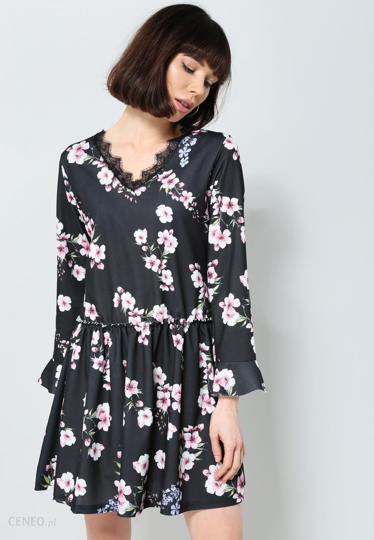 4321f7cf93 Granatowo-Różowa Sukienka Sweety Flower - Ceny i opinie - Ceneo.pl