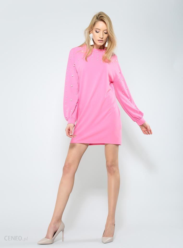 6498e97bd1 Ciemnoróżowa Sukienka Night Pearl - Ceny i opinie - Ceneo.pl