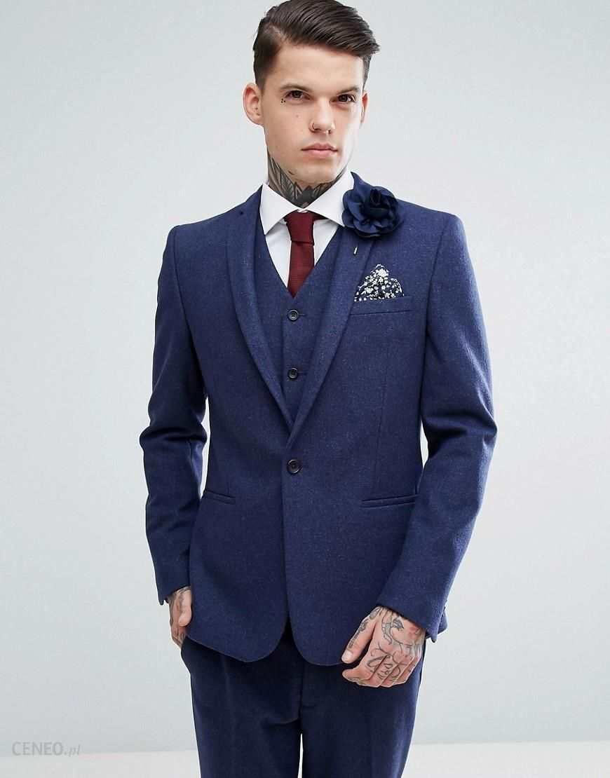 5b662160e01965 asos.com - ASOS Wedding Skinny Suit Jacket in Navy Wool Mix - Navy ...