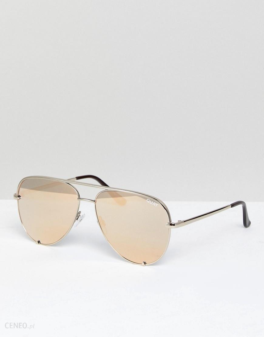 f922b71bc7459 Quay Australia X Desi Perkins High Key Aviator Sunglasses In Gold - Gold -  zdjęcie 1