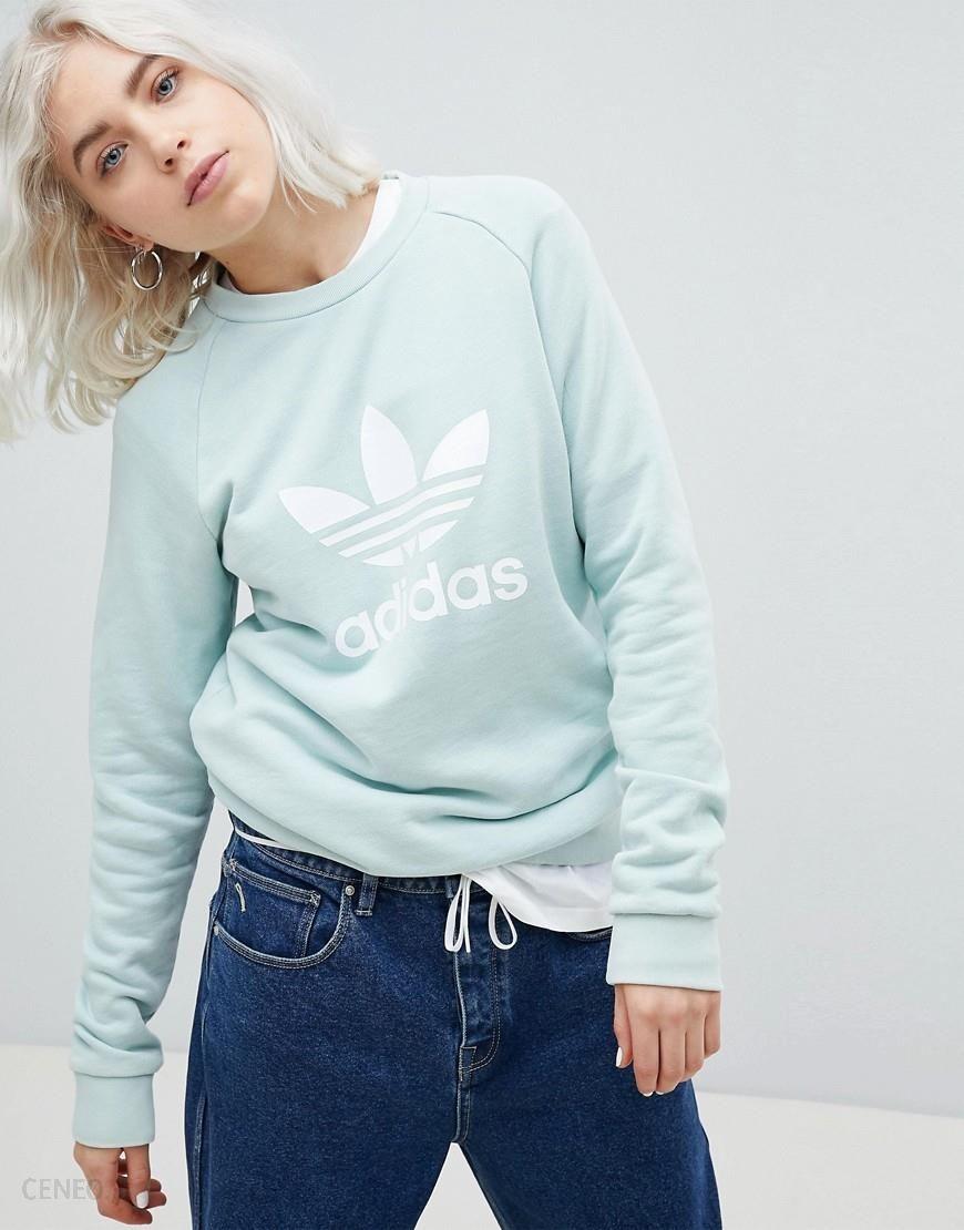 Adidas Originals adicolor Trefoil Oversized Sweatshirt In Mint Green Ceneo.pl