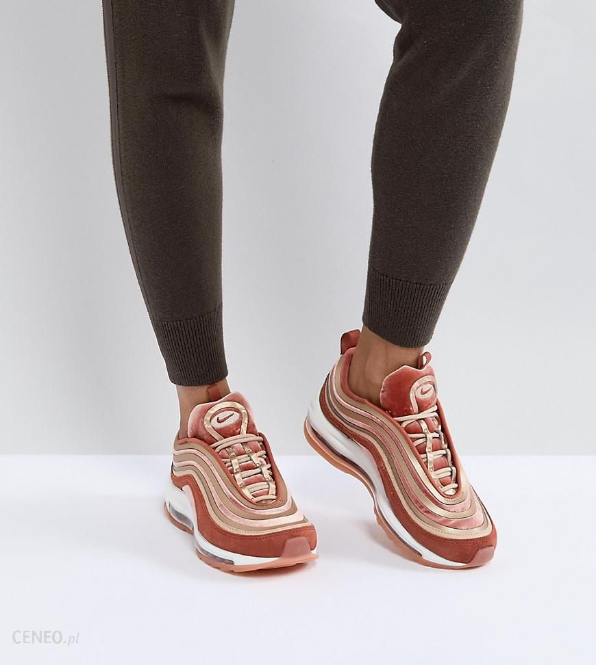 Nike Air Max 97 Ultra '17 Velvet Sneakers In Dusty Peach