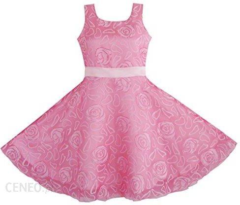 a7e6b087 Amazon Sukienka dla dziewczynki różowy różowa święto ślub sznurka, kolor:  Rosa , rozmiar: 140-146 - Ceny i opinie - Ceneo.pl