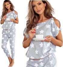 34bcba8ebb5f06 Pigeon 576/1 piżama z bawełny *L* białe gwiazdki Allegro
