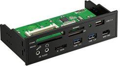 sempre MP35-3 3.5 panneau frontal multi USB3.0 2x USB3.0 USB3.0 19pin double port directement sur la carte m/ère 1x Estat HD//AC97 Audio All in One Card Reader avec support SDHC SDXC