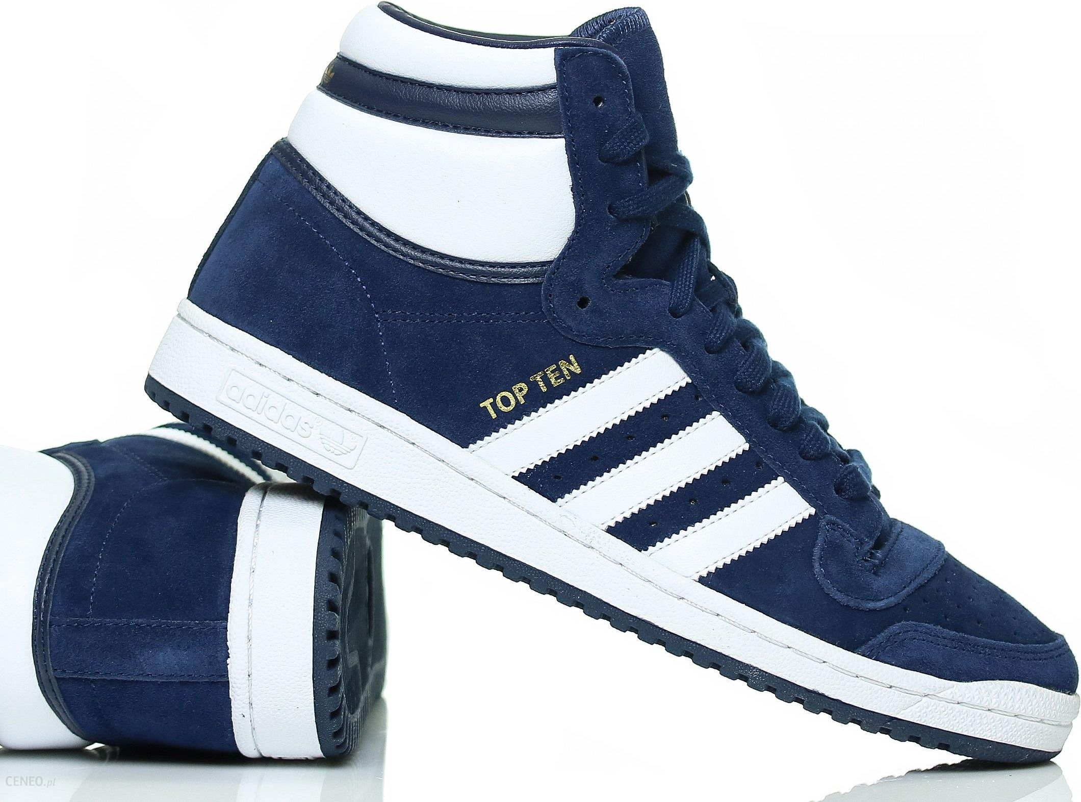 8f99afcb8cd93 Buty męskie Adidas Top Ten Hi F37661 Granatowe - Ceny i opinie ...