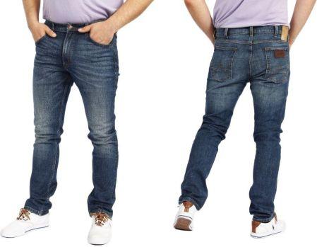 cf38b4231be87 Wrangler Bostin Green Sky Rurki Slim Jeans W38 L34 - Ceny i opinie ...